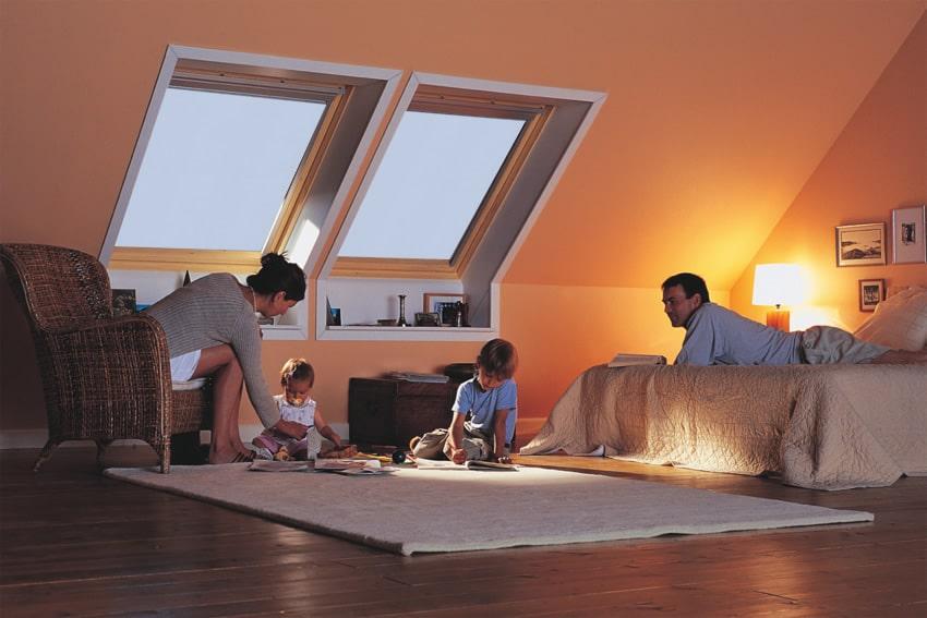Преимущества проектов с помещениями под крышей